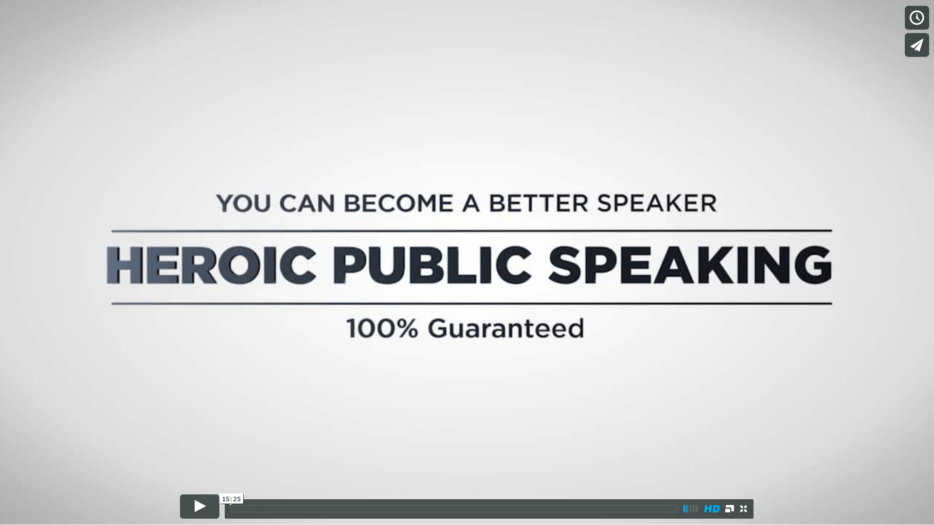heroic public speaking we can make you a better speaker  click here to get public speaking training videos and the guide to world saving speeches